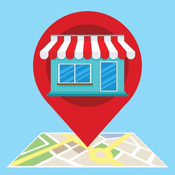 local search marketing ecommerce - seo stock illustrations, clip art, cartoons, & icons