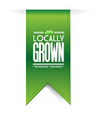 locally grown banner concept illustration design graph over a white background