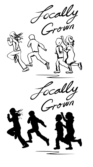 Locally Grown Kids SIlhouette