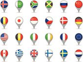 Locating phone icons with flags