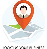 Location Icon. Locating Your Business. Flat Design. Isolated Illustration.