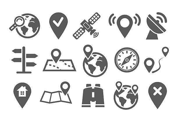 Location Icons Map Icons and Location Icons with White Background community drawings stock illustrations
