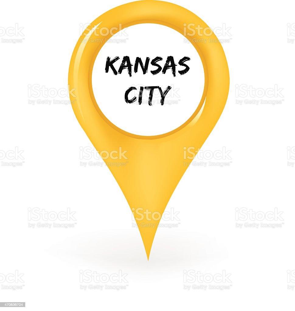 Location Kansas City vector art illustration