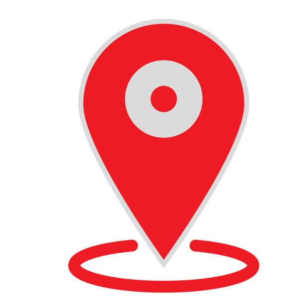 konumu harita simgesi beyaz arka plan üzerinde. düz stil. web sitesi tasarımı, logo, app, kullanıcı arabirimi için konumu harita simgesi. gps işaretçi işareti simgesi. gps işaretçi işareti işareti. - google stock illustrations
