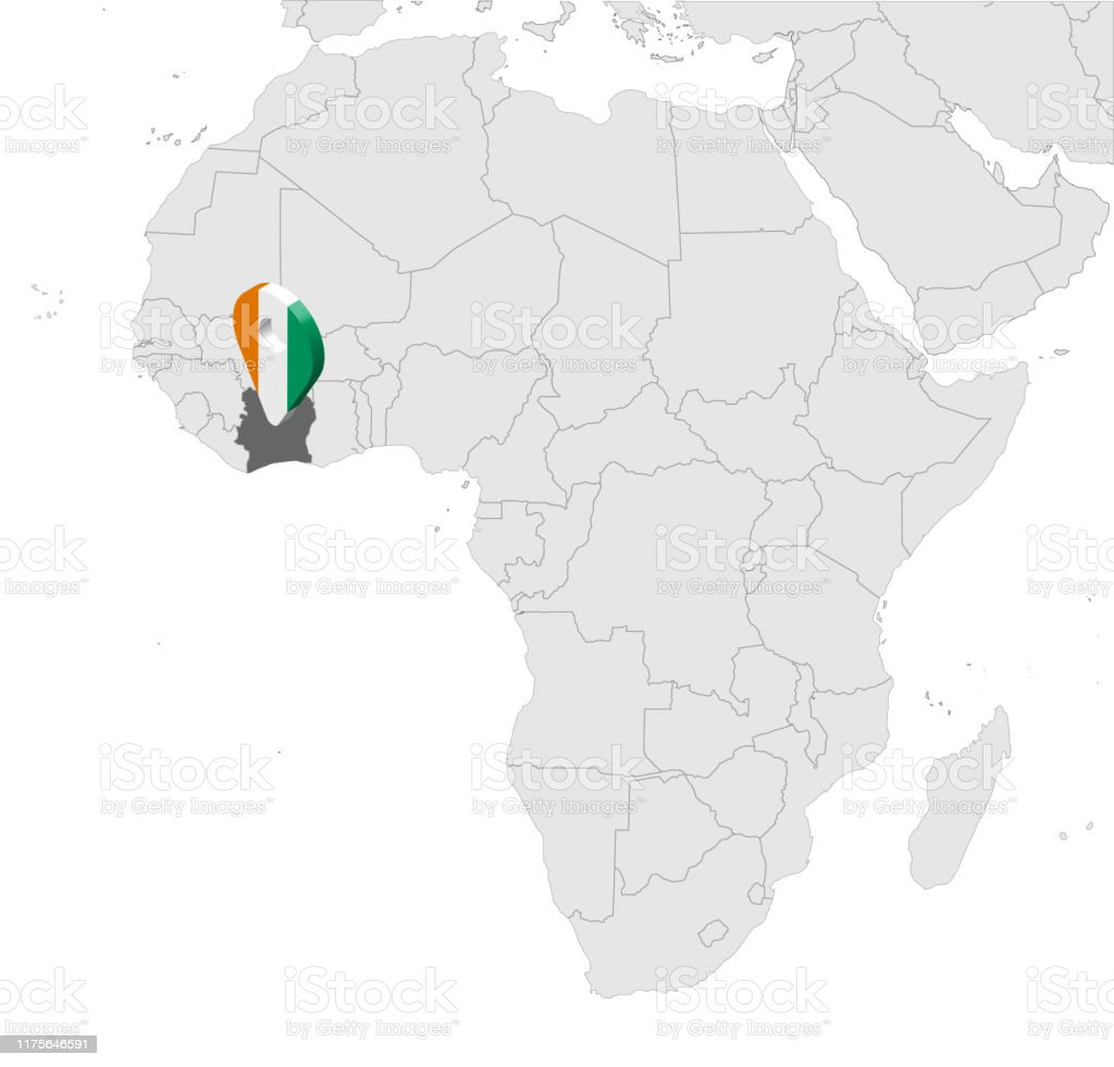 Picture of: Location Map Of Cote Divoire On Map Africa 3d Slamic Republic Of Cote Du2019ivoire Flag Map Marker Location Pin High Quality Map Of Cote Du2019ivoire Vector Illustration Eps10 Stock Illustration Download