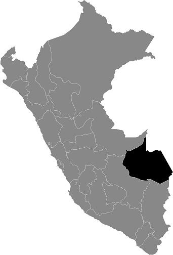 Location Map of Madre de Dios Department