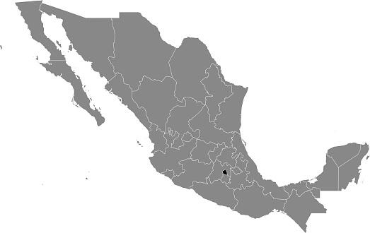 Location map of Mexico City state (Ciudad de México)