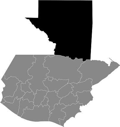 Location map of Petén department