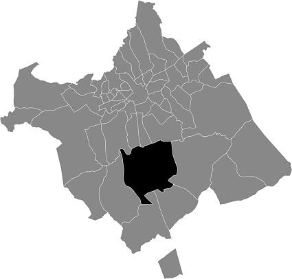 Location map of the Baños y Mendigo district of municipality of Murcia, Spain