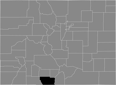 Location map of the Conejos county of Colorado, USA