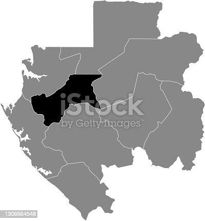 istock Location map of the Moyen-Ogooué province of Gabon 1306664548
