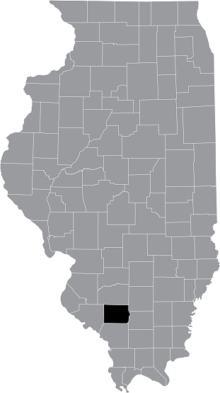 Location map of the Perry County of Illinois, USA