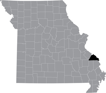 Location map of the Perry County of Missouri, USA