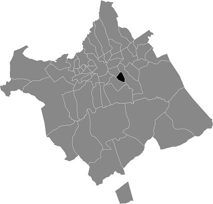 Location map of the San José de la Vega district of municipality of Murcia, Spain