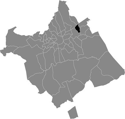 Location map of the Santa Cruz district of municipality of Murcia, Spain