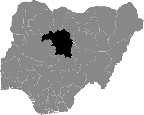 Location map of the State of Kaduna of Nigeria