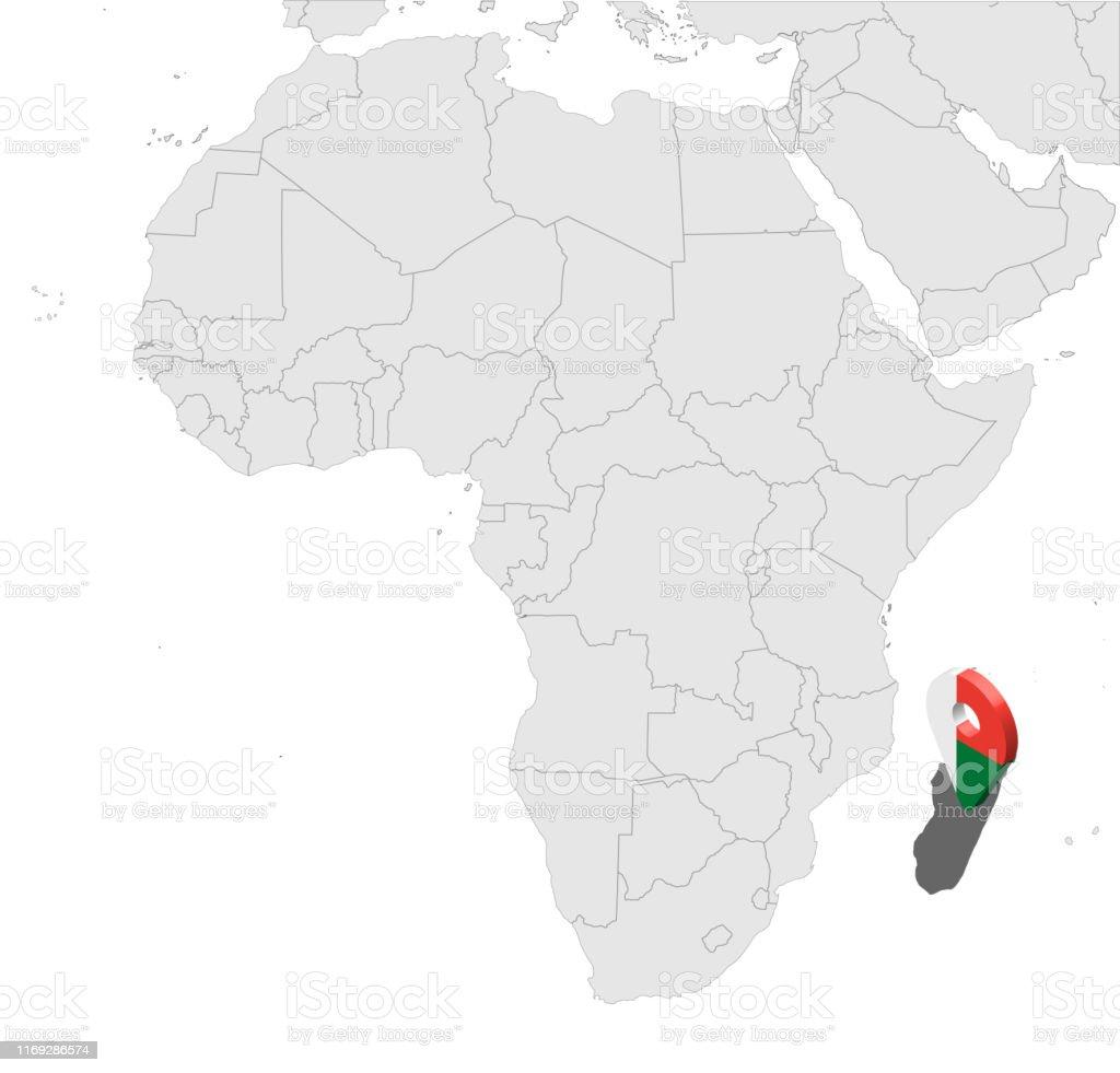 Karte Afrika.Lage Karte Republik Madagaskar Auf Der Karte Afrika 3d
