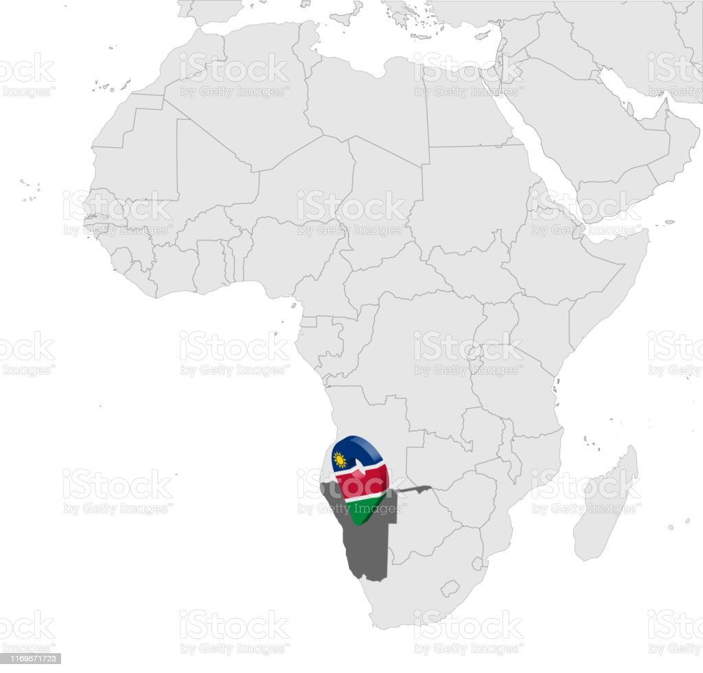 Location Map Republic Of Namibia On Map Africa 3d Namibia ...