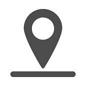 Location of golf hole on map solid icon, golf concept, Golf position sign on white background, pin golf logo icon in glyph style for mobile concept and web design. Vector graphics.