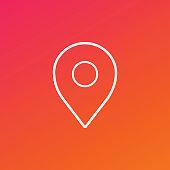 Location Pin Icon Gradient Background