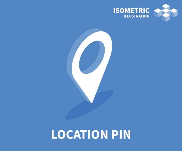 location pin icon. isometric template for web design in flat 3d style. vector illustration. - ilustracje z kategorii cele podróży stock illustrations