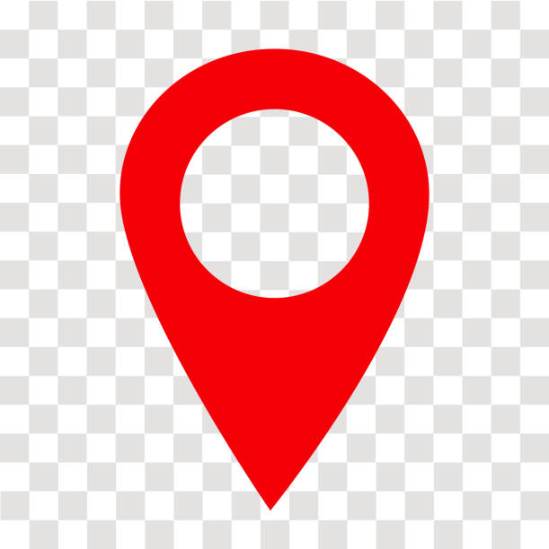 location pin icon on transparent. location pin sign. flat style. red location pin symbol. map pointer symbol. map pin sign. location pin icon on transparent. location pin sign. flat style. red location pin symbol. map pointer symbol. map pin sign. global positioning system stock illustrations