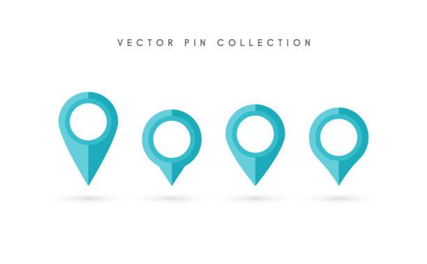 Puntero De Ubicación: Vectores De Moderna Mapa De Navegación Con Puntero Pin