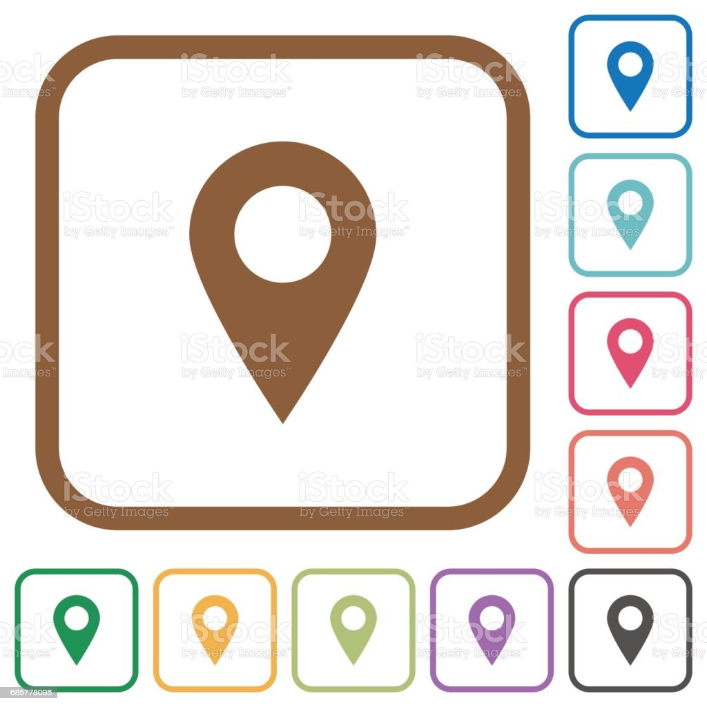 Location pin simple icons royalty-free location pin simple icons stock vector art & more images of bent