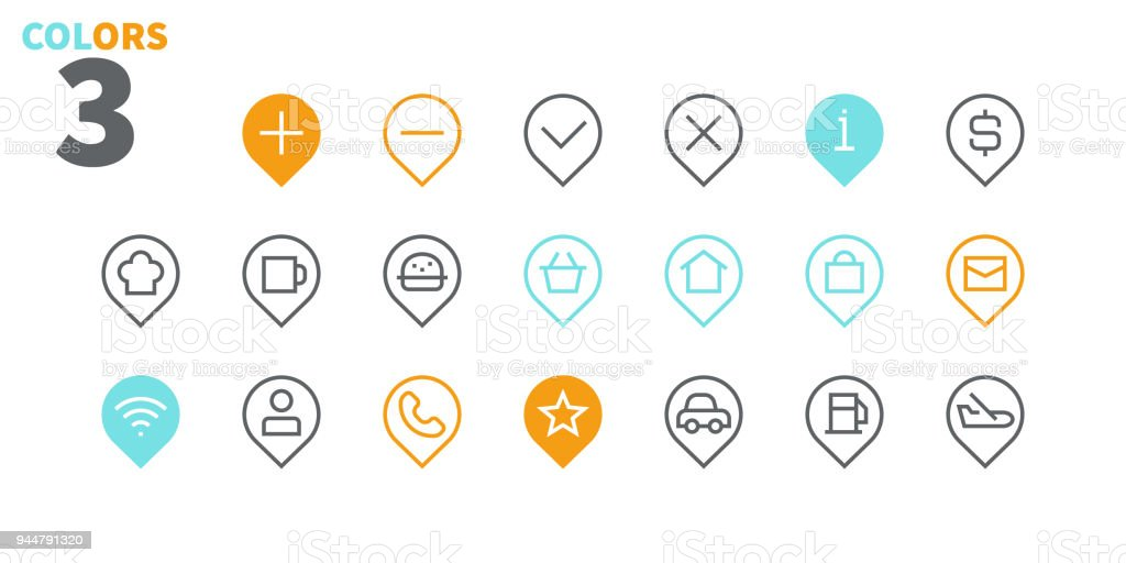 Location Pixel Perfect Well-crafted Vector Thin Line Icons 48x48 Ready for 24x24 Grid for Web Graphics and Apps with Editable Stroke. Simple Minimal Pictogram Part 3 vector art illustration