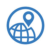 Location search icon. Beautiful, meticulously designed icon. Well organized and editable Vector for any uses.