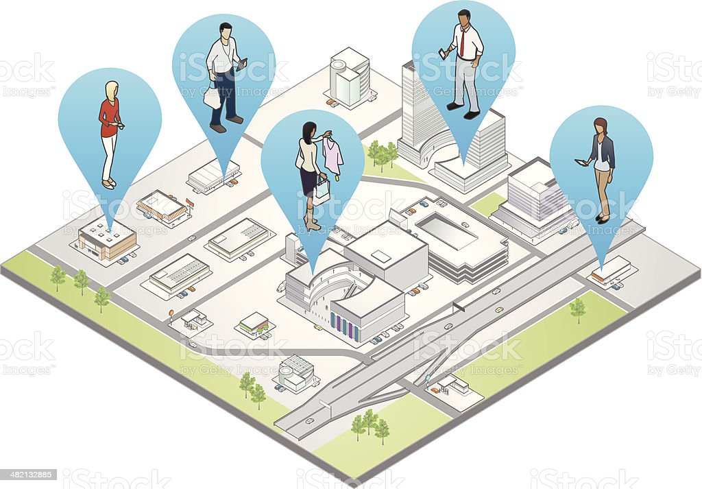 Location-Based Marketing Illustration vector art illustration