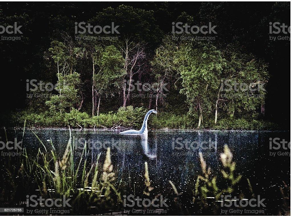 Loch Ness Monster vector art illustration