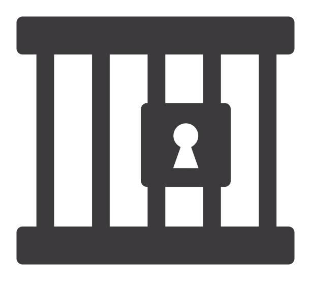 illustrations, cliparts, dessins animés et icônes de icône lock and bars - prison