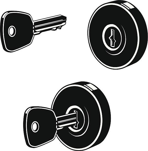 Vector Key Illustration: Royalty Free Door Chain Clip Art, Vector Images