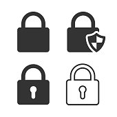 istock Lock and Shield Icon Vector Design on White Background. 1213347700