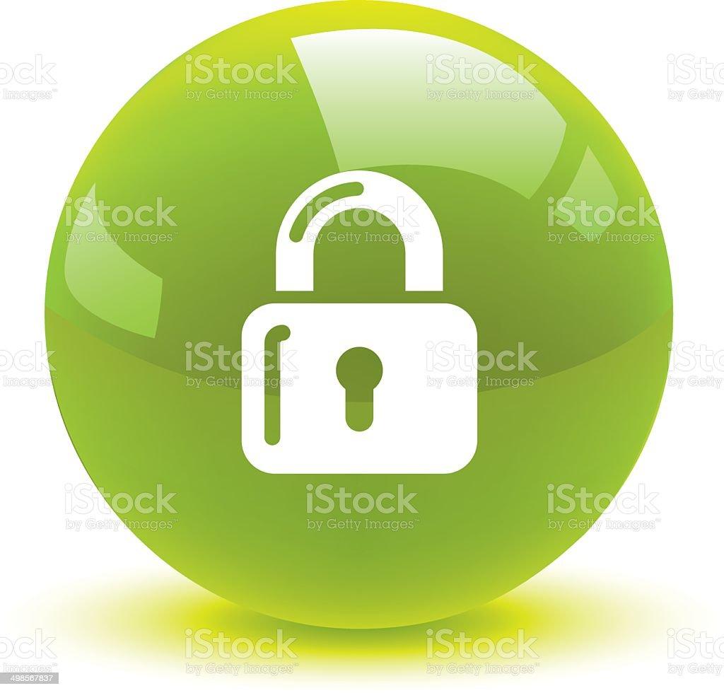 lock button icon web royalty-free stock vector art