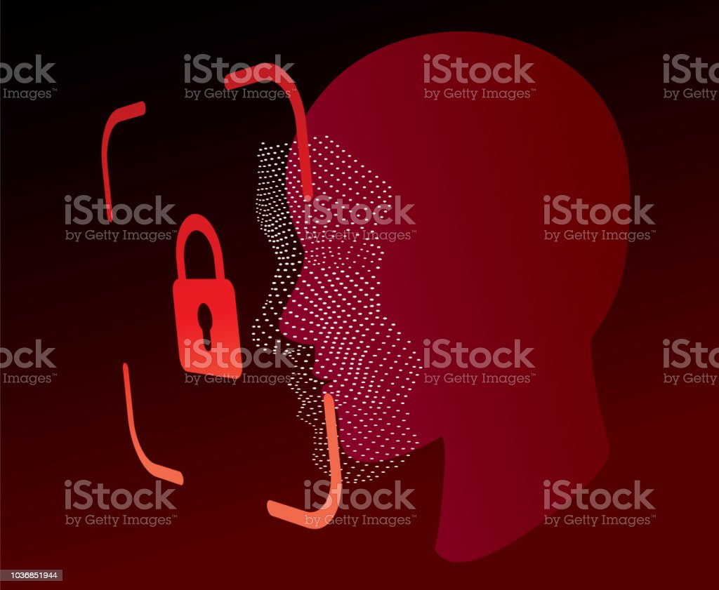 Lock Face Id Scan Vector Stock Illustration - Download Image Now