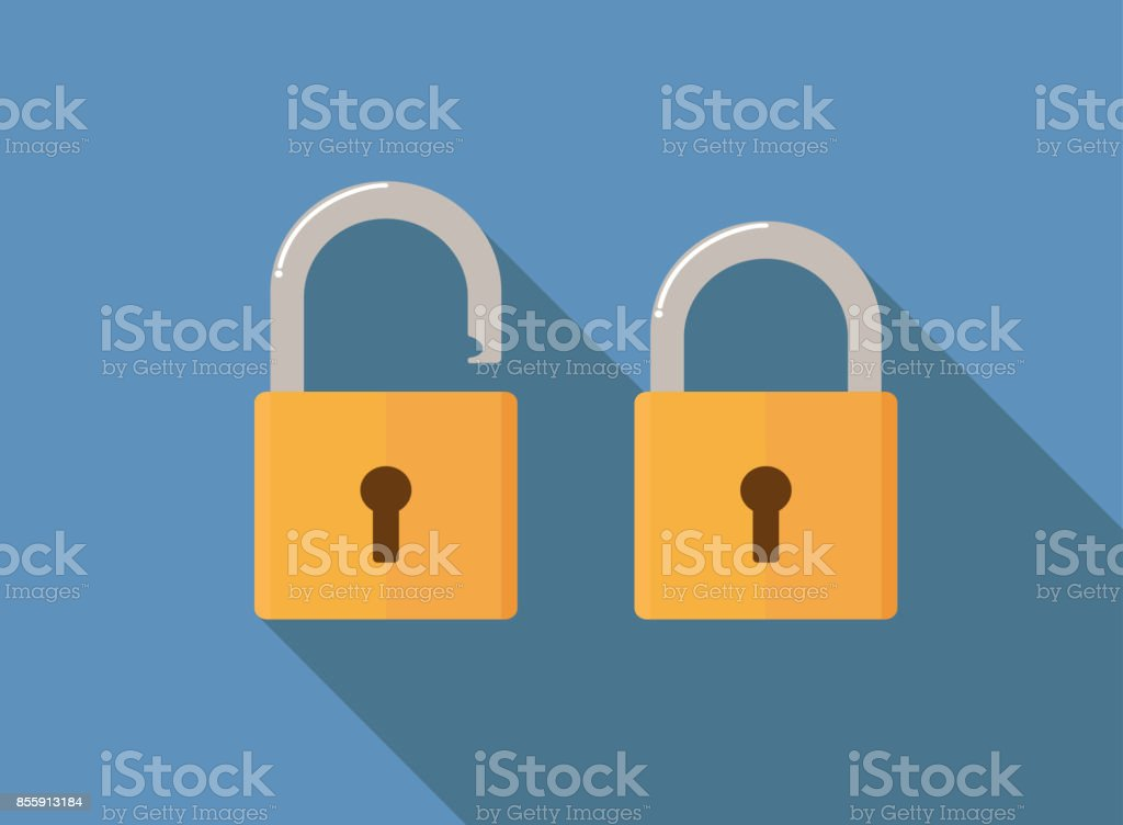 lock icon flat style vector illustration