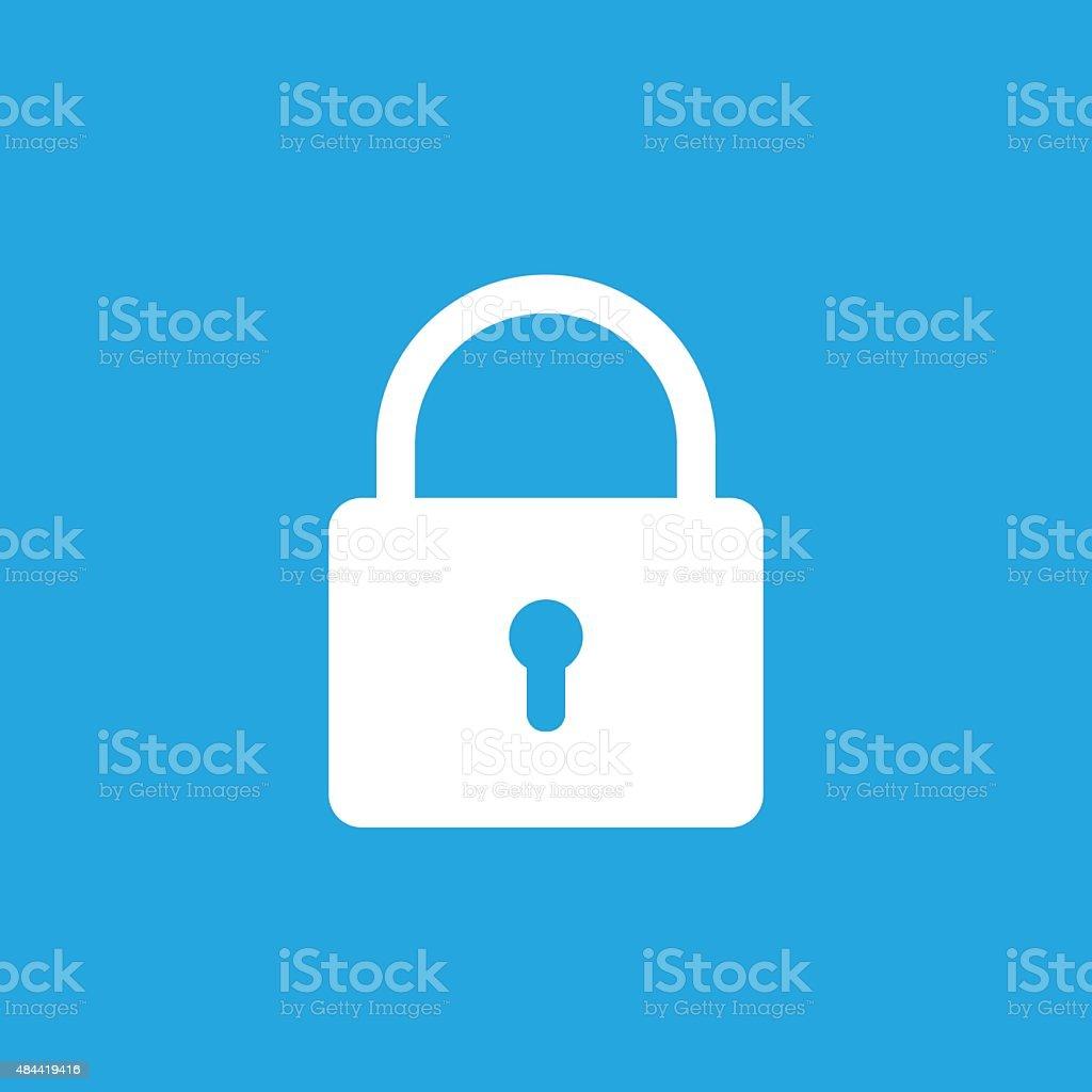 Lock icon, modern minimal flat design style. Padlock vector illustration vector art illustration