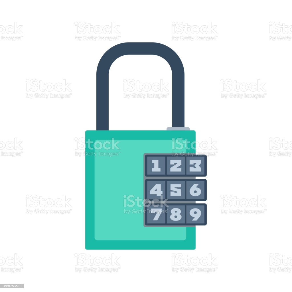 Lock icon vector. vector art illustration