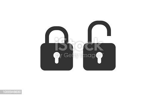 istock Lock icons vector 1055946630