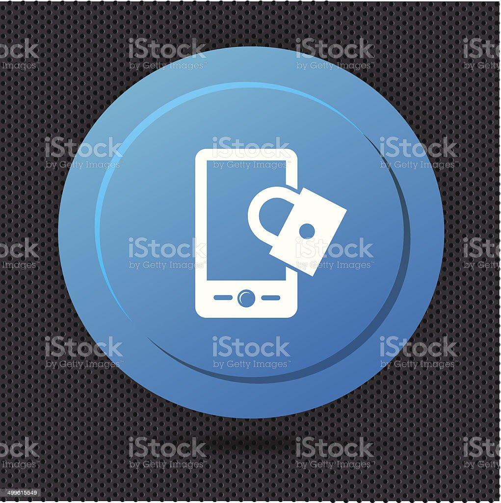 Lock mobile button,vector royalty-free stock vector art