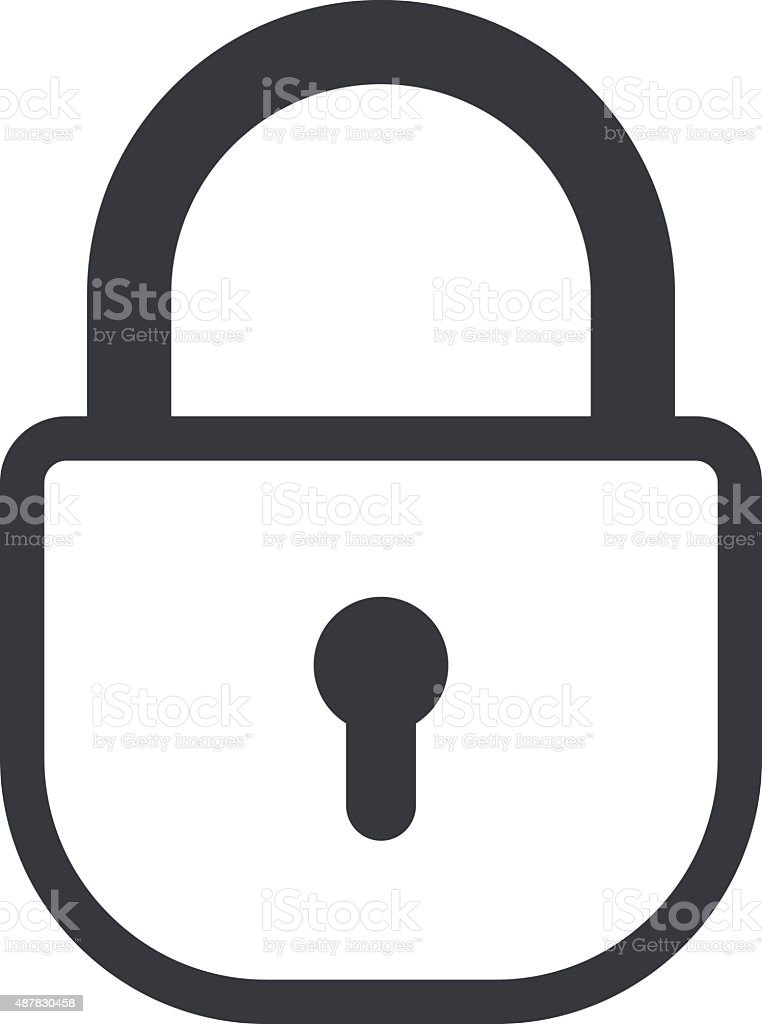 lock outline icon minimal flat design style padlock vector rh istockphoto com padlock vector png padlock vector icon