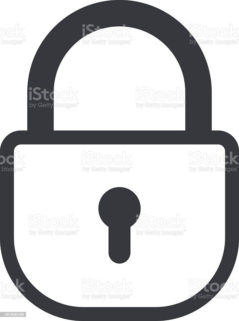 Lock outline icon, minimal flat design style. Padlock vector illustration vector art illustration