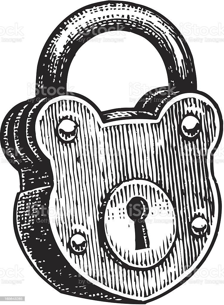 Lock Padlock Security Equipment Stock Illustration ...