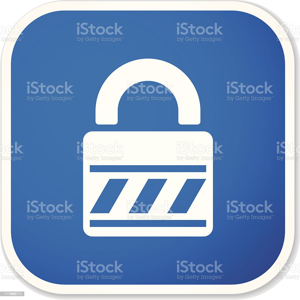 lock sq sticker royalty-free lock sq sticker stock vector art & more images of accessibility