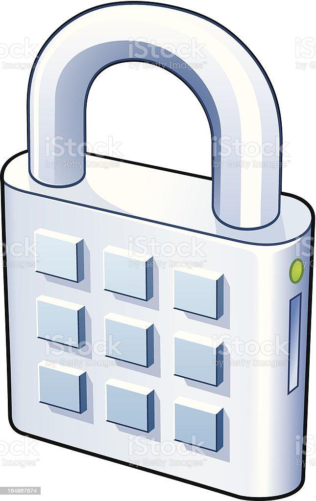 Lock with numpad royalty-free stock vector art