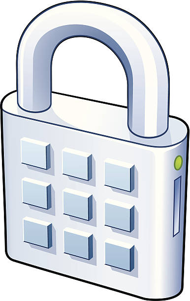 Lock with numpad vector art illustration