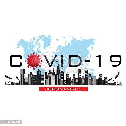 istock Lockdown City Covid-19 Corona Virus Background Template 1220793310