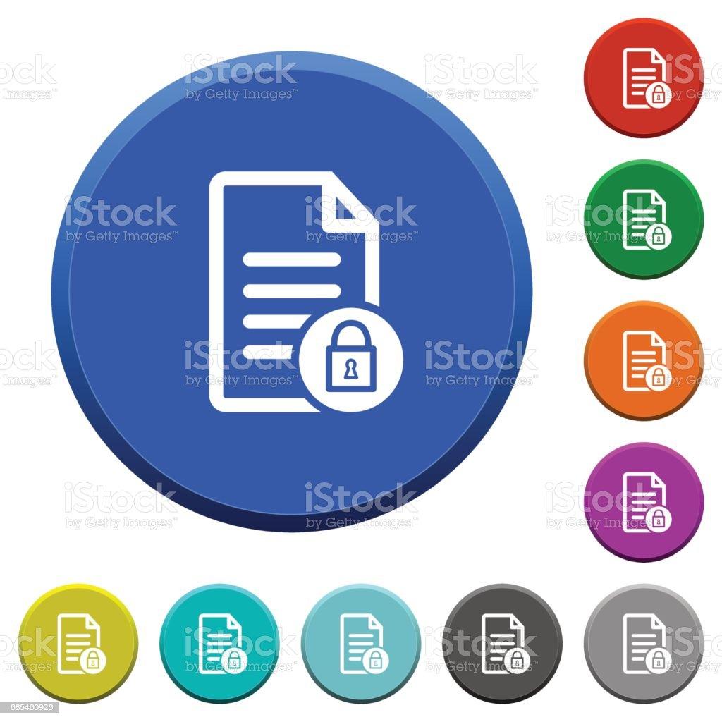 Locked document beveled buttons locked document beveled buttons - arte vetorial de stock e mais imagens de assunto royalty-free